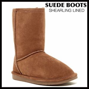 ❤️SALE❤️ SUEDE SHEARLING LINED BOOTS SHORT BOOTIES